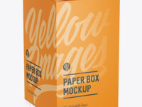 Paper Box Mockup - Halfside View