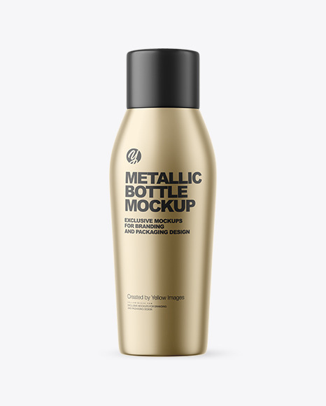 Matte Metallic Bottle Mockup