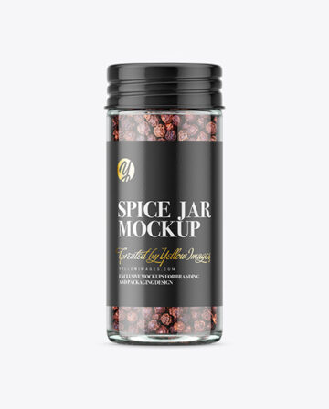 Spice Jar with Black Pepper Mockup