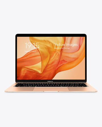 MacBook Air Gold Mockup