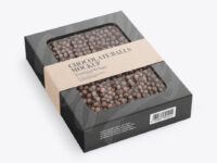 Kraft Paper Box With Chocolate Balls Mockup