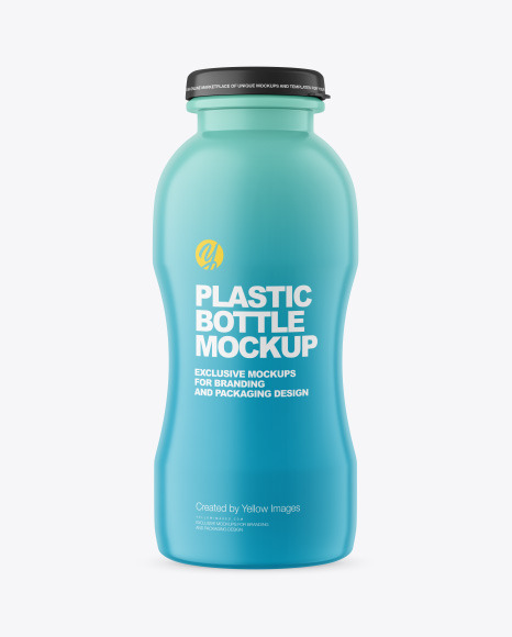 200 ml Matte Plastic Bottle Mockup