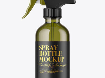 Color Glass Spray Bottle Mockup