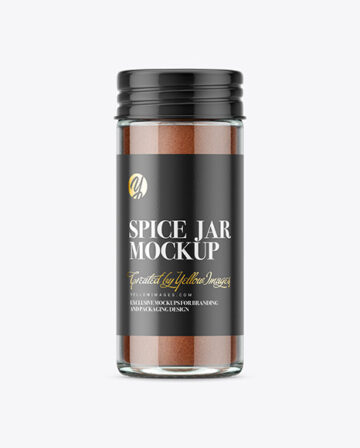 Spice Jar with Cinnamon Mockup