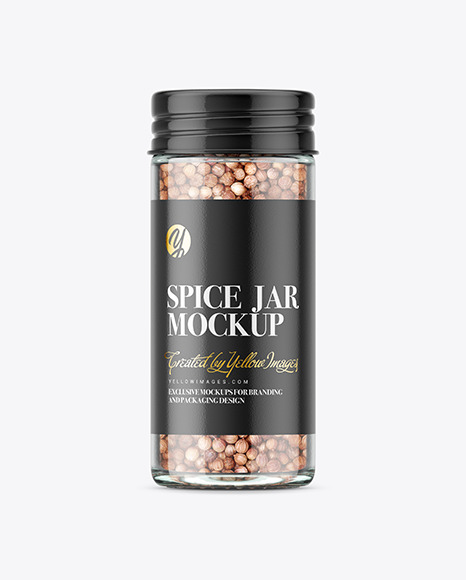 Spice Jar with Coriander Mockup