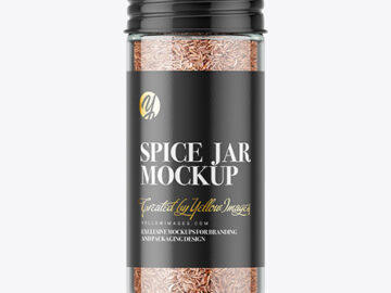Spice Jar with Cumin Mockup
