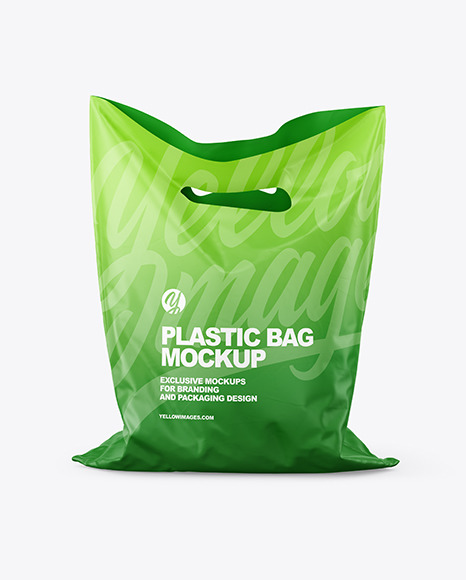 Matte Plastic Carrier Bag Mockup