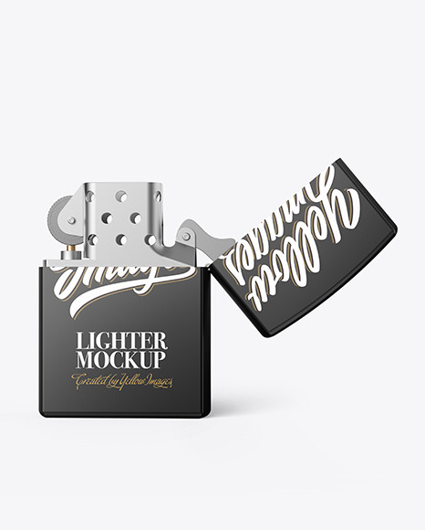 Opened Matte Lighter Mockup