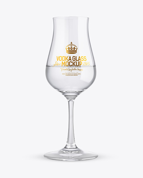 Vodka Snifter Glass Mockup