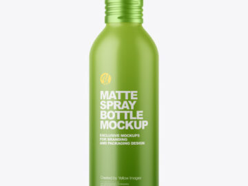 150 ml Matte Spray Bottle Mockup