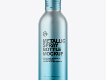 150 ml Metallic Spray Bottle Mockup