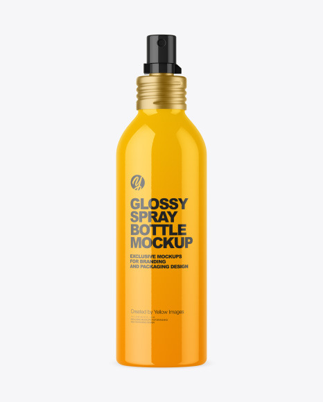 150 ml Glossy Spray Bottle Mockup