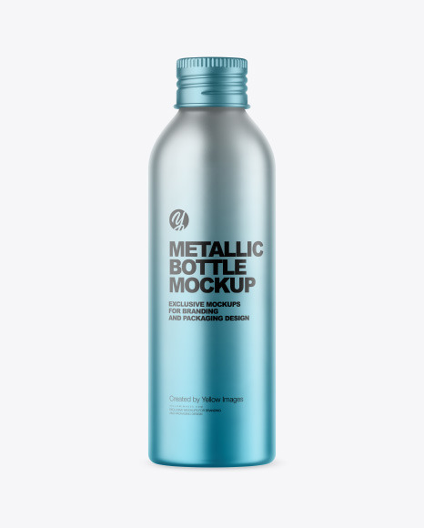 150 ml Metallic Bottle Mockup