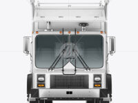 Garbage Truck Mockup - Front View
