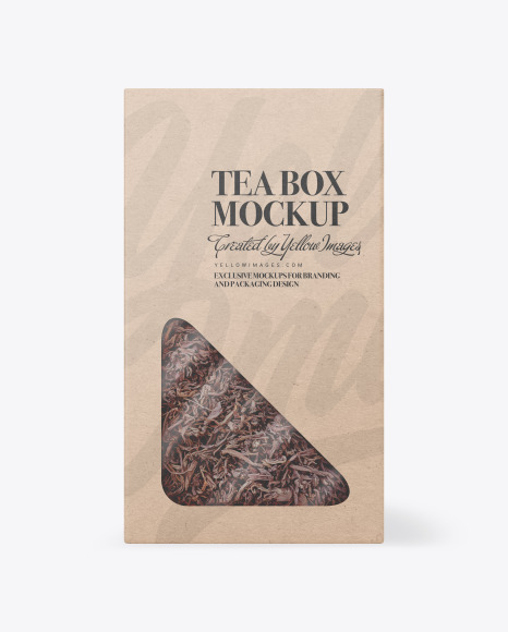Kraft Paper Box with Tea Mockup