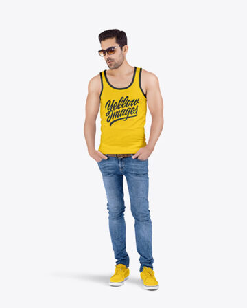 Man in Tank Top Mockup