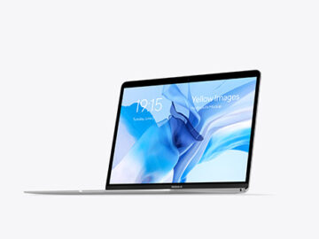 MacBook Air Silver Mockup