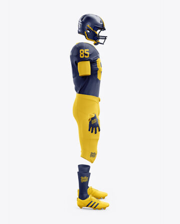American Football Kit Mockup - Side View