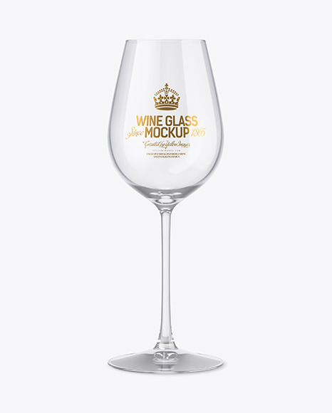 Clear Wine Glass Mockup
