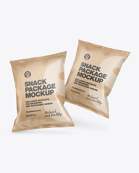 Two Kraft Snack Packages Mockup