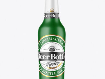 Matte Beer Bottle Mockup