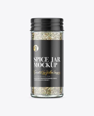 Spice Jar with Oregano Mockup
