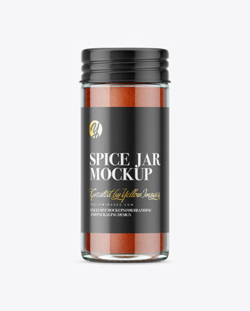 Spice Jar with Paprika Mockup