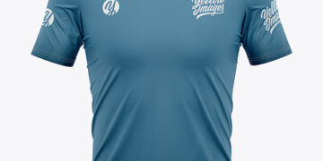Men's V-Neck Soccer Jersey Mockup - Front View