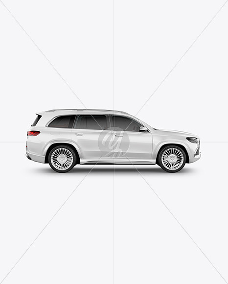 Full-size luxury SUV Mockup - Side View