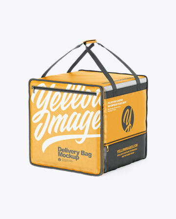 Polyester Delivery Bag Mockup