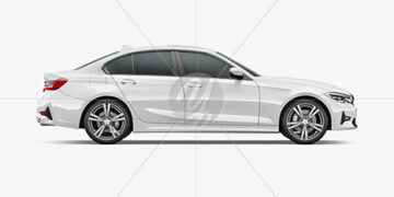 Executive Car Mockup - Side View