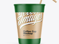 Paper Coffee Cup w/ Holder Mockup
