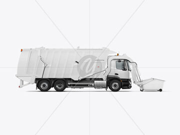 Garbage Truck Mockup - Side View