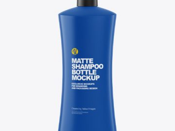Matte Shampoo Bottle Mockup