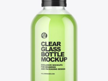 Clear Glass Bottle Mockup