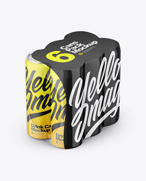 Matte Cans in Shrink Wrap Mockup
