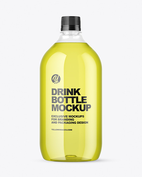 Clear Plastic Drink Bottle Mockup