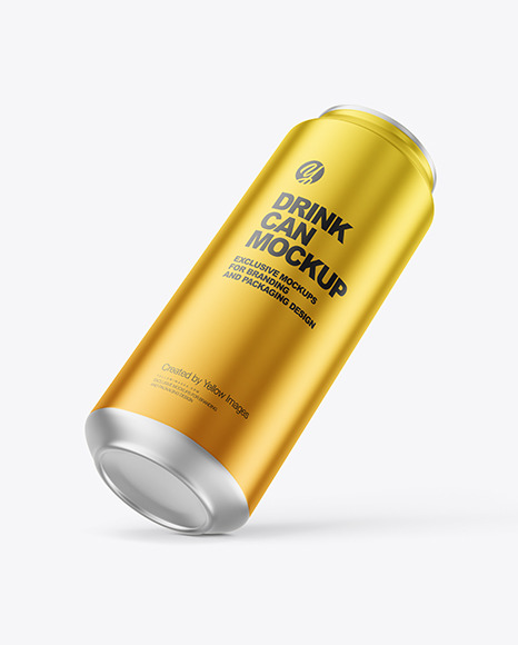 500ml Matte Metallic Drink Can Mockup