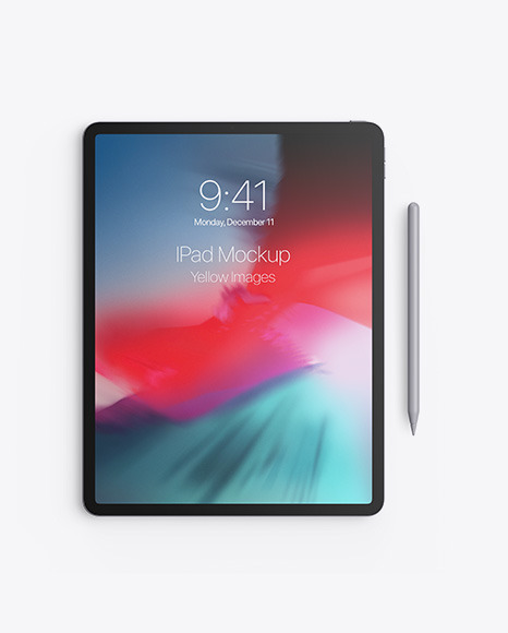 Apple iPad Pro w/ Pen Mockup