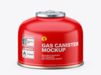 100g Gas Canister Mockup
