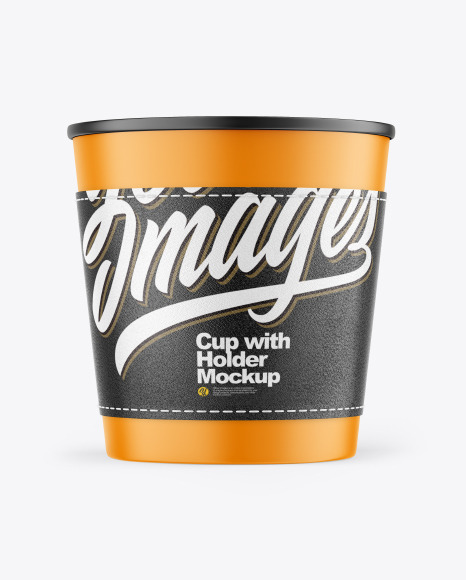 Matte Cup with Holder Mockup
