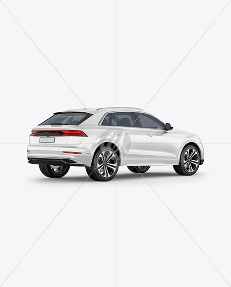 Crossover SUV - Back Half Side View