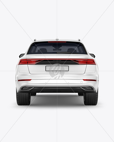 Crossover SUV - Back View
