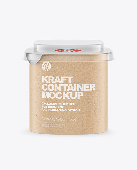 Kraft Paper Container Mockup