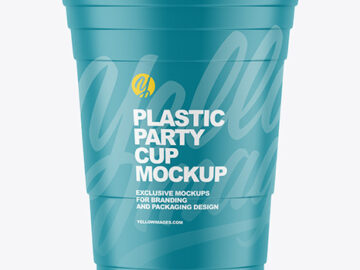 Matte Plastic Party Cup Mockup