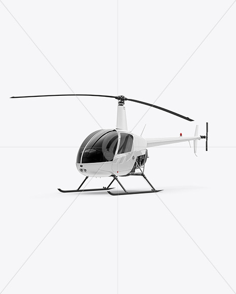 Helicopter Mockup - Half Side View