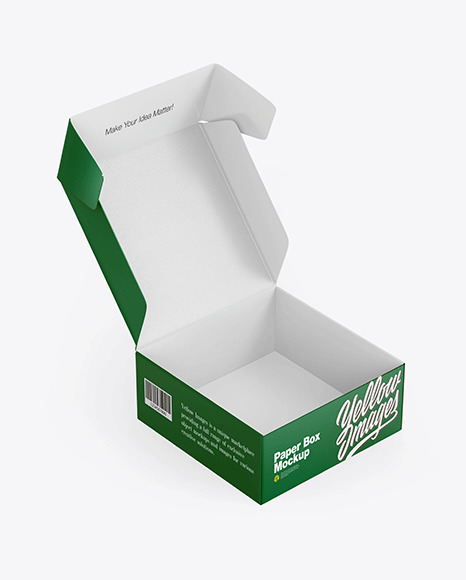 Opened Textured Paper Box Mockup