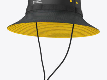 Bucket Hat with Wide Brim Mockup