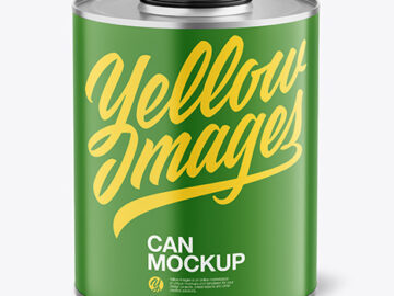 Tin Can with Matte Finish Mockup