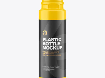 250ml Acrylic Paint Matte Bottle Mockup